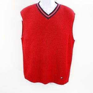 Tommy Hilfiger Mens V Neck Sweater Vest Large